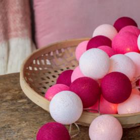 Bombažne lučke Pink