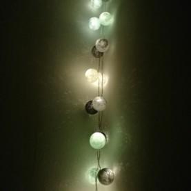 bombažne lučke aqua sive