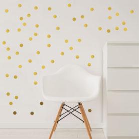 stenske nalepke zlate pikice male