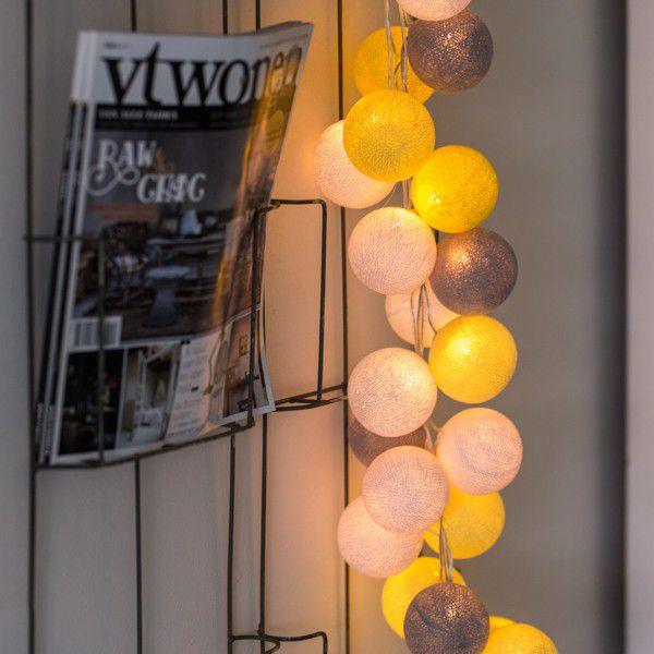 bombažne lučke rumeno sive