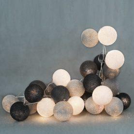 bombažne lučke klasična siva