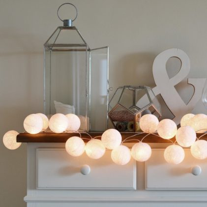 bombažne lučke popolna bela