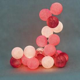 bombažne lučke prisrčna roza