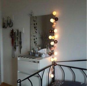 bombažne lučke sive spalnica