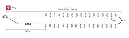 dolžina kabla bombažne lučke