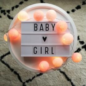 Bombažne lučke baby girl hanksome najin dom