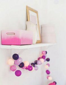 bombažne lučke borovničeva tortica vijolična lila magenta