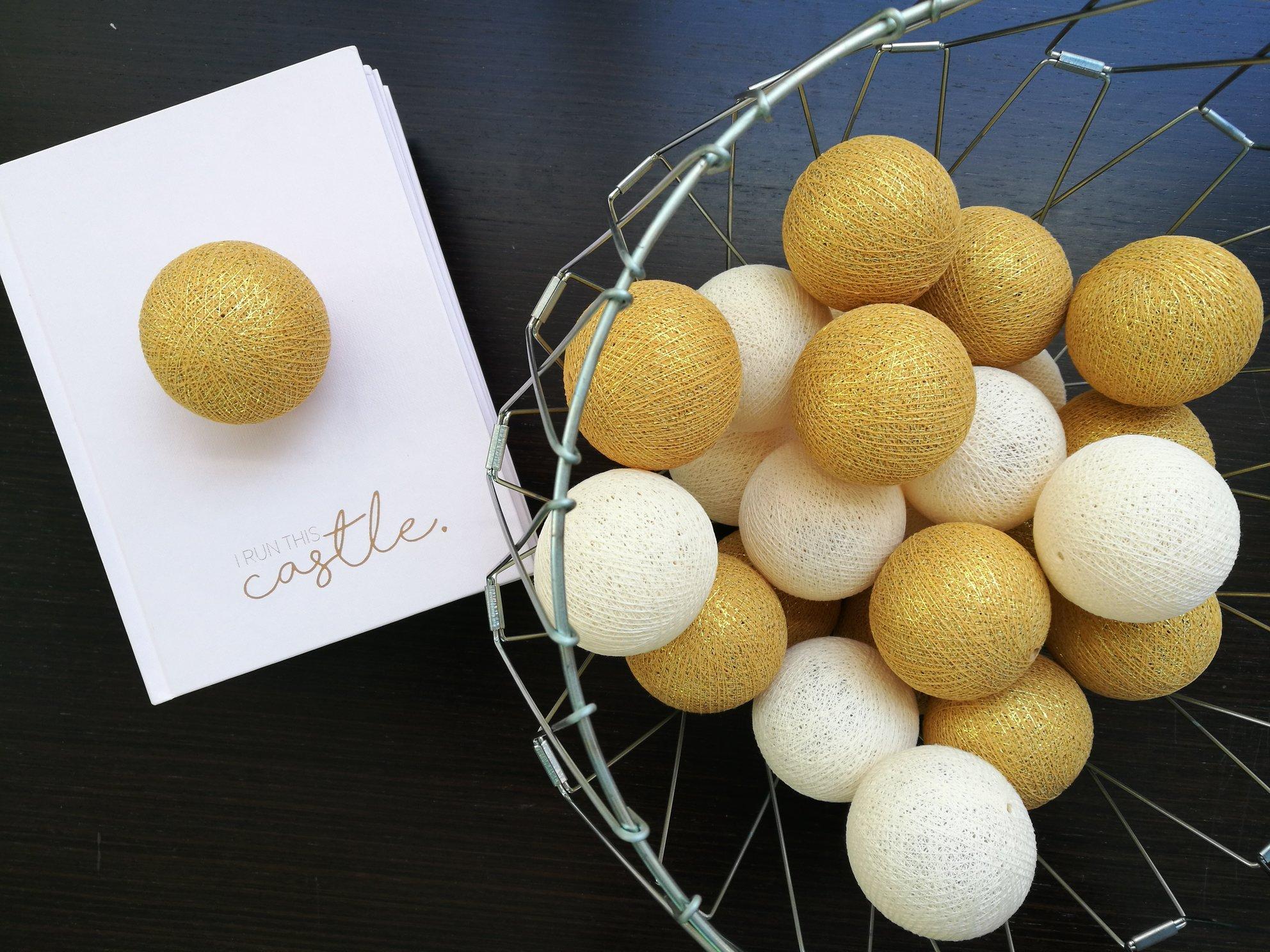 cotton ball lights zlate