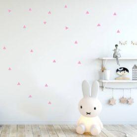 stenske nalepke roza trikotniki
