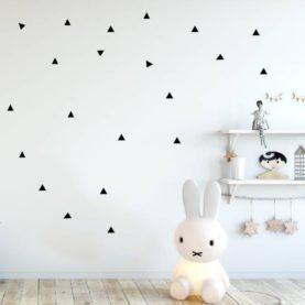 črni trikotniki stenske nalepke