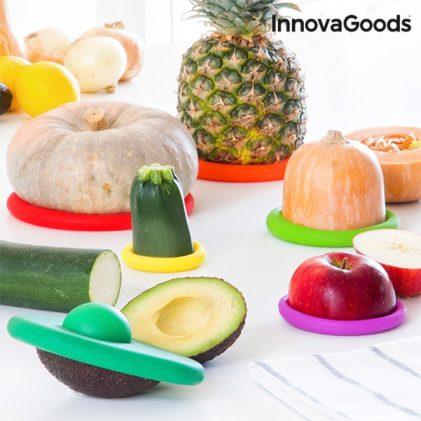 set silikonskih pokrovk za zelenjavo in sadje
