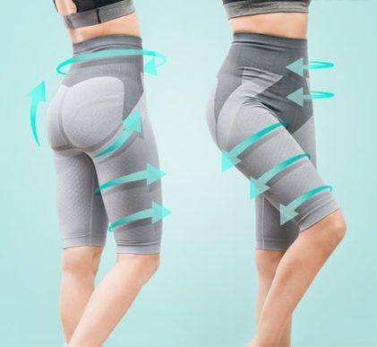 Shujševalne hlače z delci turmalina