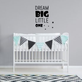 stenska nalepka dream big little one