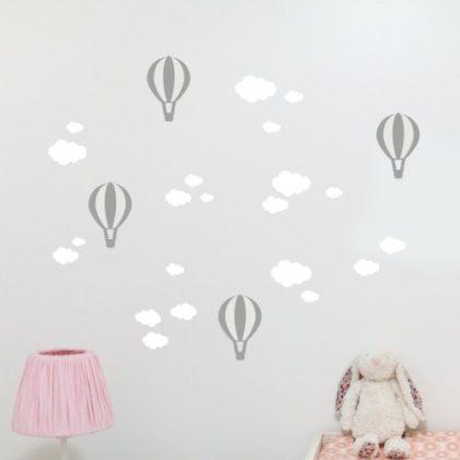 stenska nalepka oblački in baloni
