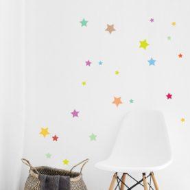 Hanksome stenske nalepke večbarvne zvezdice