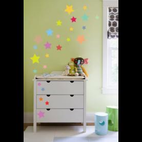 stenske nalepke zvezdice multicolor