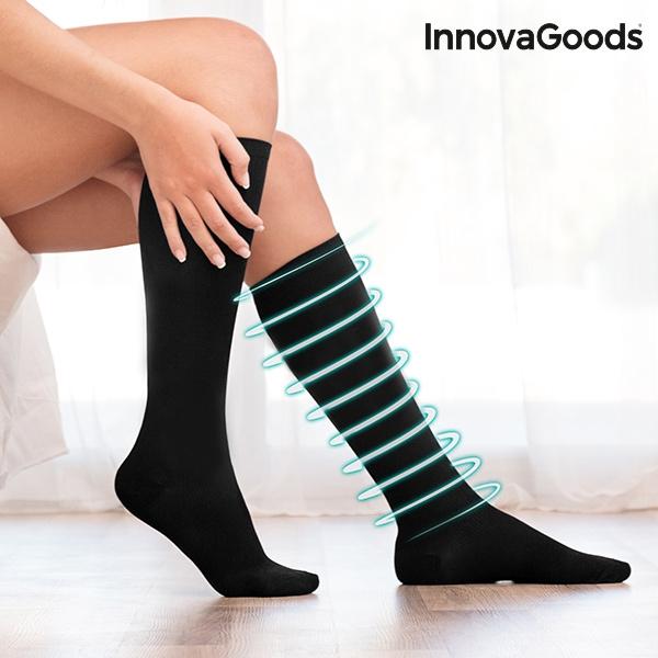 kompresijske nogavice univerzalne črne