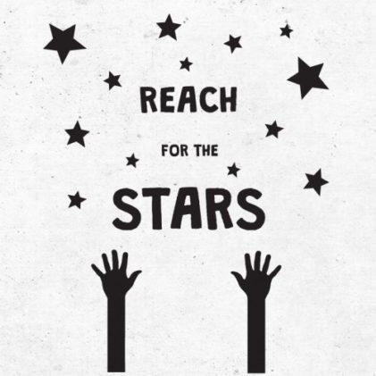 stenska nalepka reach for the stars