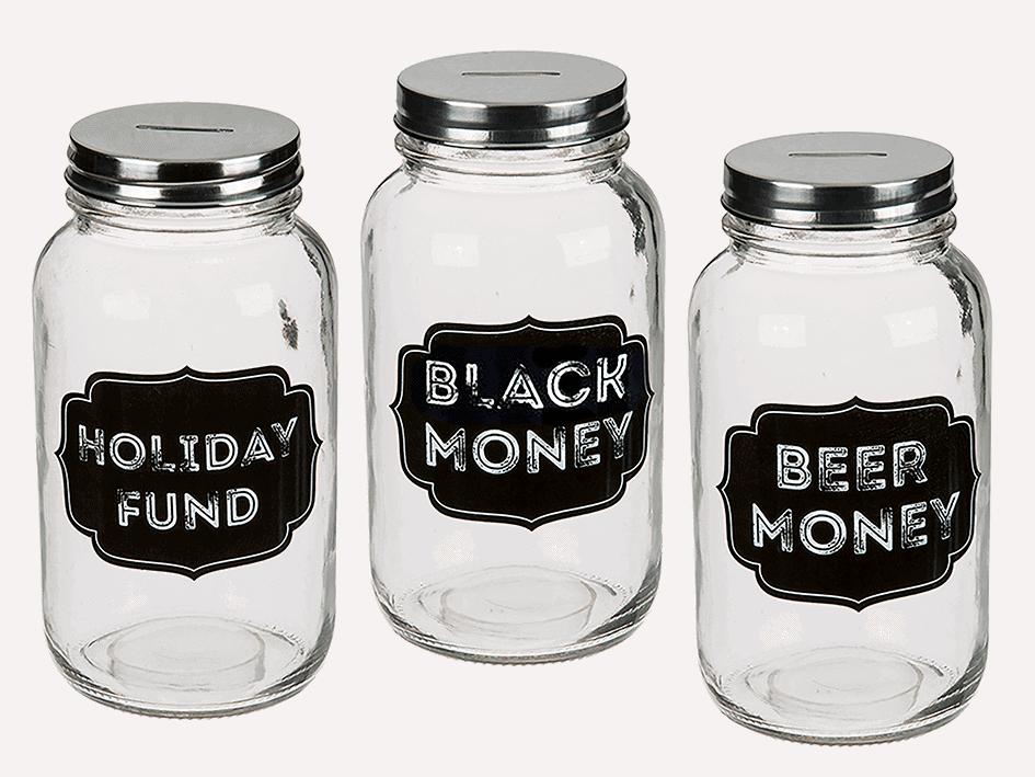 hranilnik za varčevanje holiday beer black