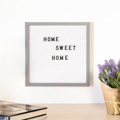 letter board okvir s črkami 30x30 cm