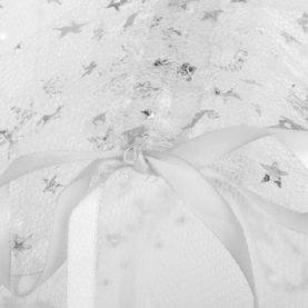 komarnik za posteljo siv zvezdice