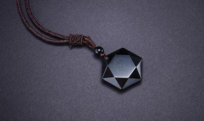 obsidian ogrlica