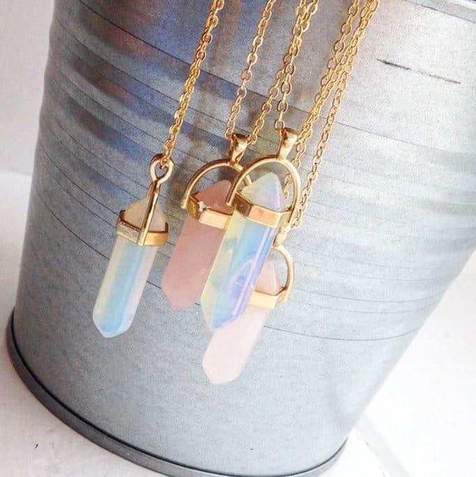 ogrlica crystal zlata prozorna