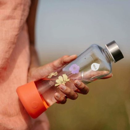 steklenička equa poppy flowerhead orančna