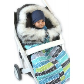 Spalna vreča za voziček Moder eskim