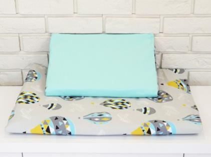 posteljnina 120x90 baloni mint