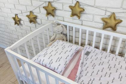 posteljnina topla za dojenčke roza