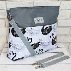 previjalna torba labodi siva