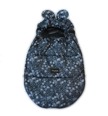zimska vreča miška črna s snežinkami