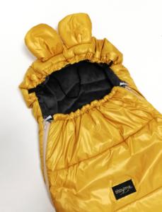 zimska vreča za lupinico miki z ušeski rumena